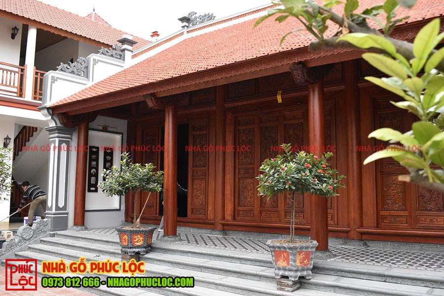 Ngôi nhà gỗ 3 gian cổ truyền